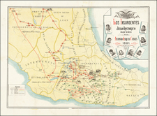 Mexico and Pictorial Maps Map By Antonio Garcia y Cubas