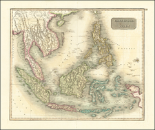 Southeast Asia, Philippines, Indonesia, Malaysia and Thailand, Cambodia, Vietnam Map By John Thomson