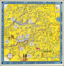 Yosemite Map By Lindgren Brothers