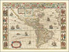 Americae Nova Tabula By Willem Janszoon Blaeu