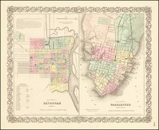Georgia and South Carolina Map By Joseph Hutchins Colton