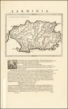 Sardinia Map By Willem Janszoon Blaeu