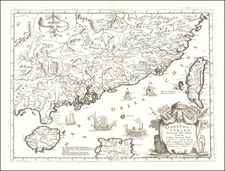 China and Philippines Map By Vincenzo Maria Coronelli