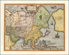 Asia and Philippines Map By Gerard de Jode
