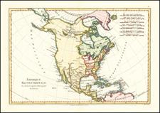 North America Map By Rigobert Bonne
