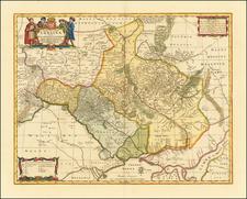Typus Generalis Ukrainae sive Palatinatuum Podoliae, Kioviensis et Braczlaviensis terras nova delineatione exhibens By Peter Schenk  &  Gerard Valk
