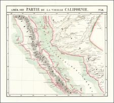 Baja California Map By Philippe Marie Vandermaelen