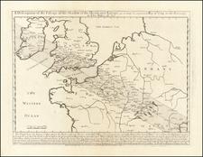 British Isles, France and Celestial Maps Map By John Senex