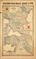 Balkans and Turkey Map By Joseph Hutchins Colton