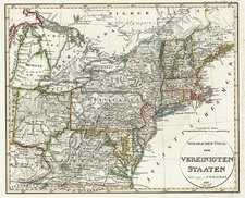 New England, Mid-Atlantic and Midwest Map By Christian Gottlieb Reichard
