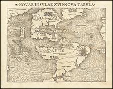 Western Hemisphere, South America and America Map By Sebastian Munster