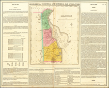 Mid-Atlantic and Delaware Map By Henry Charles Carey  &  Isaac Lea