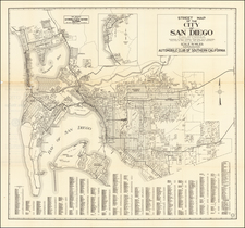 San Diego Map By Automobile Club of Southern California