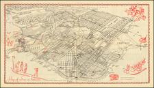 San Francisco & Bay Area Map By James Ladd Delkin