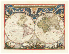 World Map By Johannes Blaeu