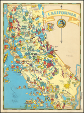 Pictorial Maps and California Map By Ruth Taylor White