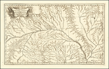 Central Asia & Caucasus and Russia in Asia Map By Jean-Baptiste Bourguignon d'Anville