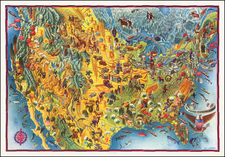 United States and Pictorial Maps Map By Miguel Covarrubias