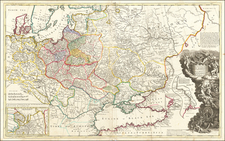 Poland, Russia, Ukraine and Baltic Countries Map By Herman Moll