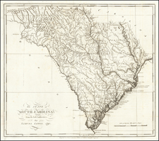 South Carolina Map By Mathew Carey