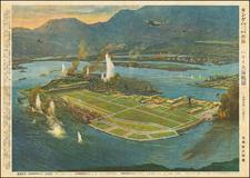 Hawaii, Hawaii and World War II Map By Matsushima