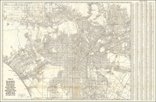 California and Los Angeles Map By Security-First National Bank of Los Angeles