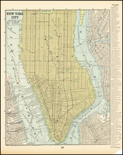 New York City Map By People's Publishing Co.