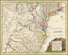 Mid-Atlantic, Southeast and Midwest Map By Gentleman's Magazine