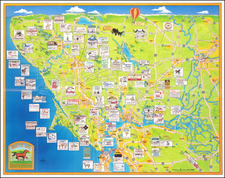 Pictorial Maps and California Map By Town Graphics