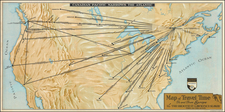 United States, North America and Canada Map By Canadian Pacific