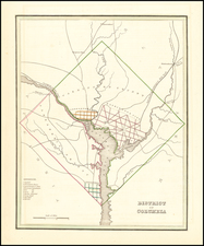 Washington, D.C. Map By Thomas Gamaliel Bradford