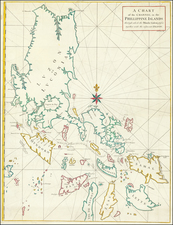 A Chart of the Channel in the Phillippine Islands through which the Manila Galeon passes together with the adjacent Islands.  By George Anson / Richard William Seale