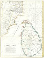 Sri Lanka Map By Thomas Kitchin