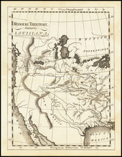 Texas, Plains, Southwest, Rocky Mountains and California Map By Mathew Carey