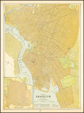 New York City and New York State Map By People's Publishing Co.