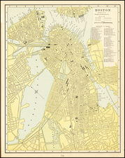 Boston Map By People's Publishing Co.