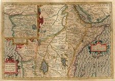 Africa, Africa, East Africa and West Africa Map By Jodocus Hondius  &   Gerard Mercator