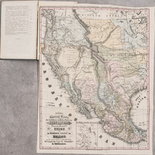 Texas, Midwest, Plains, Iowa, Southwest, Pacific Northwest, Oregon, California and Rare Books Map By Bruno Schmolder