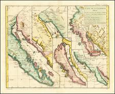 Baja California, California and California as an Island Map By Denis Diderot / Didier Robert de Vaugondy