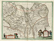 China, Central Asia & Caucasus and Russia in Asia Map By Willem Janszoon Blaeu
