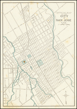 Other California Cities Map By George F. Cram