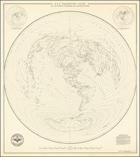 World Map By U.S. Army Air Forces Aeronautical Chart Service