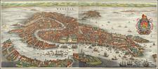 Venice Map By Matthaus Merian