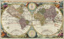 Orbis Terrarum Tabula Recens Emendata Et In Lucem Edita Per Dancker Danckerts By Dancker Danckerts
