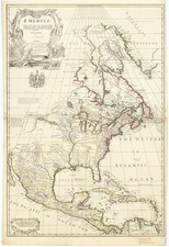 North America Corrected From The Observations Communicated to The Royal Society of London and The Royal Academy of Paris . . . 1710 By John Senex