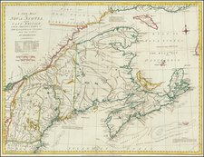 New England and Canada Map By John Murray