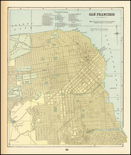 San Francisco & Bay Area Map By George F. Cram
