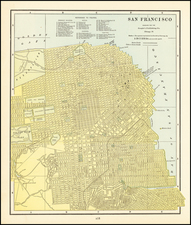 San Francisco & Bay Area Map By George F. Cram