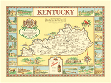 Kentucky and Pictorial Maps Map By Karl Smith