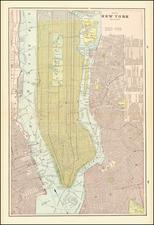 New York City Map By George F. Cram
